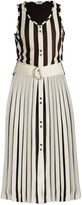 Nina Ricci Striped-knit sleeveless dress