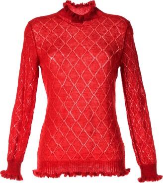 Undercover Argyle Embroidered Jumper
