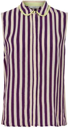 Nümph Kat With Stripes Shirt - 34 - Purple/White