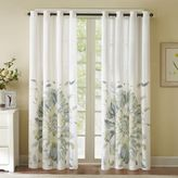 Solange 84-Inch Floral Watercolor Window Curtain Panel