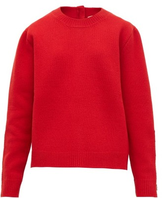 No.21 No. 21 - Crystal-embellished Wool-blend Sweater - Womens - Red