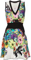 Roberto Cavalli floral print skater dress - women - Spandex/Elastane/Viscose - 40