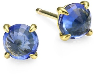Ila Core Clarence Blue Sapphire & 14K Yellow Gold Stud Earrings