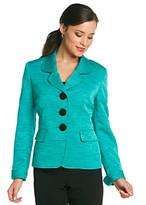 Kasper Tweed Notch Collar Jacket