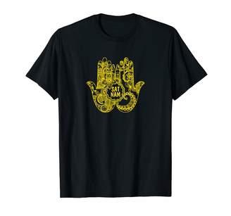 Kundalini Yoga Shirt - Sat Nam T Shirt - Lotus Flower Shirt T-Shirt
