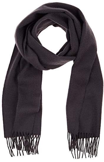 Barneys New York MEN'S SOLID CASHMERE SCARF - GRAY