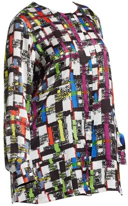 Marina Rinaldi, Plus Size Multicolor Geometric Print Blouse