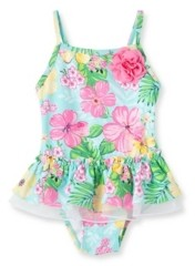 Little Me Baby Girls Tropical Swimsuit