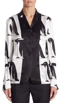 Thom Browne Silk Penguin Blouse