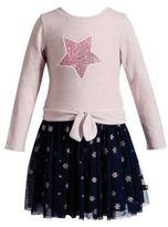 Sweet Heart Rose Sweetheart Rose Little Girl's Novelty Knit Star Dress