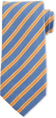 Charvet Thick Stripe Silk Tie
