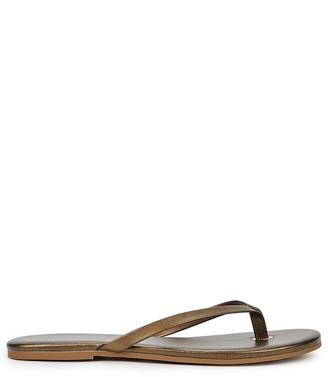 Melissa Odabash Bronze metallic leather sandals