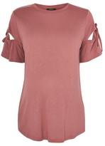 Topshop MATERNITY Ribbon Sleeve T-Shirt