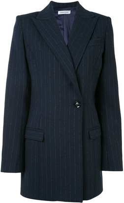 Anna Quan Sienna longline pinstriped jacket