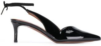 L'Autre Chose Ankle-Tie Mid-Heel Pumps
