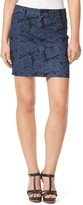 Tommy Hilfiger Final Sale-5 Pocket Faded Floral Printed Jean Skirt
