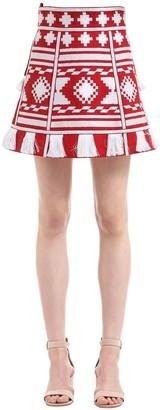 Croatia Embroidered Linen Mini Skirt