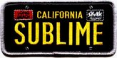 Old Glory Sublime - Mens Sublime - License Plate Patch Black