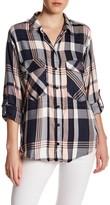 Sanctuary Plaid Boyfriend Button Up Shirt