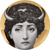 "Fornasetti With Horns"" Plate"