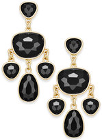 Charter Club Gold-Tone Colored Stone Chandelier Earrings, Only at Macy's