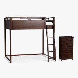 Pottery Barn Teen Hampton Loft Bed & 5-Drawer Tall Dresser Set