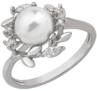 Majorica 8MM White Pearl Vine Ring
