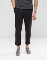 Weekday Astor Tailored Jersey Slim Pants in Black