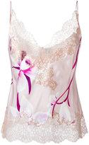 Carine Gilson Orchidée print Décolleté camisole - women - Silk - L