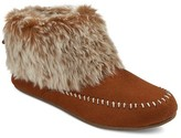 Women's Clover Fur Top Bootie Slippers - Mossimo Supply Co.