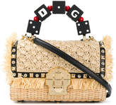 Dolce & Gabbana woven fringed tote