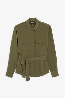 Monki Tie-waist blouse