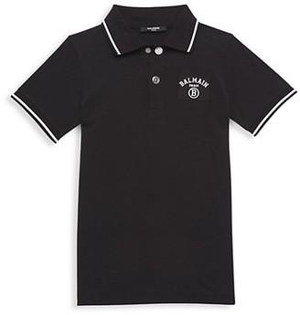 Balmain Little Boy's & Boy's Cotton Polo Shirt