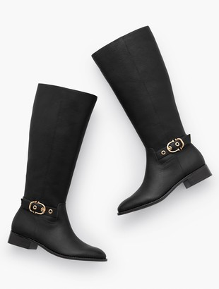 Talbots Tish Soft Pebbled Leather Riding Boots