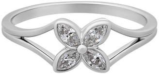 Tiffany & Co. Estate Estate Platinum Diamond Flower Ring, Size 7.50