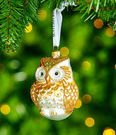 Waterford 2017 Holiday Heirlooms Winter Frost Lismore Golden Owl Ornament