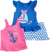 Nannette 3-Pc. Tank Top, T-Shirt and Shorts Set, Baby Girls (0-24 months)