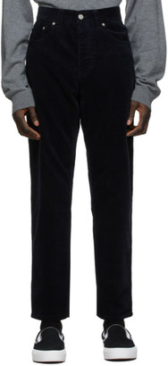 Carhartt Work In Progress Navy Corduroy Newel Trousers