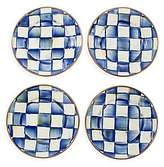 Mackenzie Childs MacKenzie-Childs Royal Check 4-Piece Canape Plate Set
