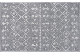 Union Rustic Adler Geometric Gray Area Rug Union Rustic Rug Size: Rectangle 2' x 3'