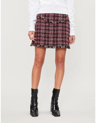 Pinko Vite tartan woven mini skirt