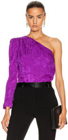 Stella McCartney Joanne One Shoulder Top in Violet | FWRD
