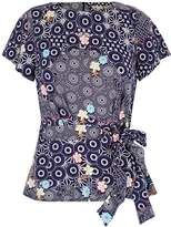 Yumi Kimono Printed Jersey Top