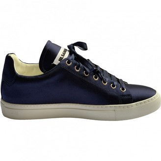 Jil Sander Blue Leather Trainers