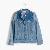 Madewell Distressed Collarless Jean Jacket