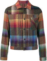 Missoni rainbow check shirt jacket
