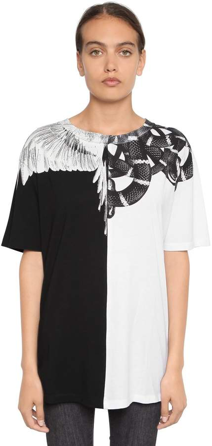 Marcelo Burlon County of Milan Wings & Snake Cotton Jersey T-Shirt