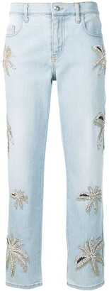Philipp Plein Boyfriend Fit Denim Trousers