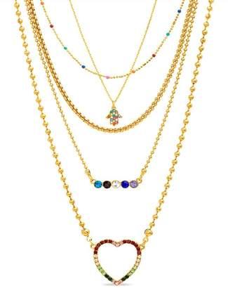 Steve Madden Rhinestone Embellished Necklace Set