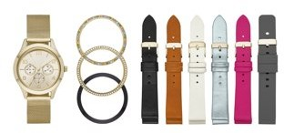 Time and Tru Interchangeable Bezel and Strap Watch Set